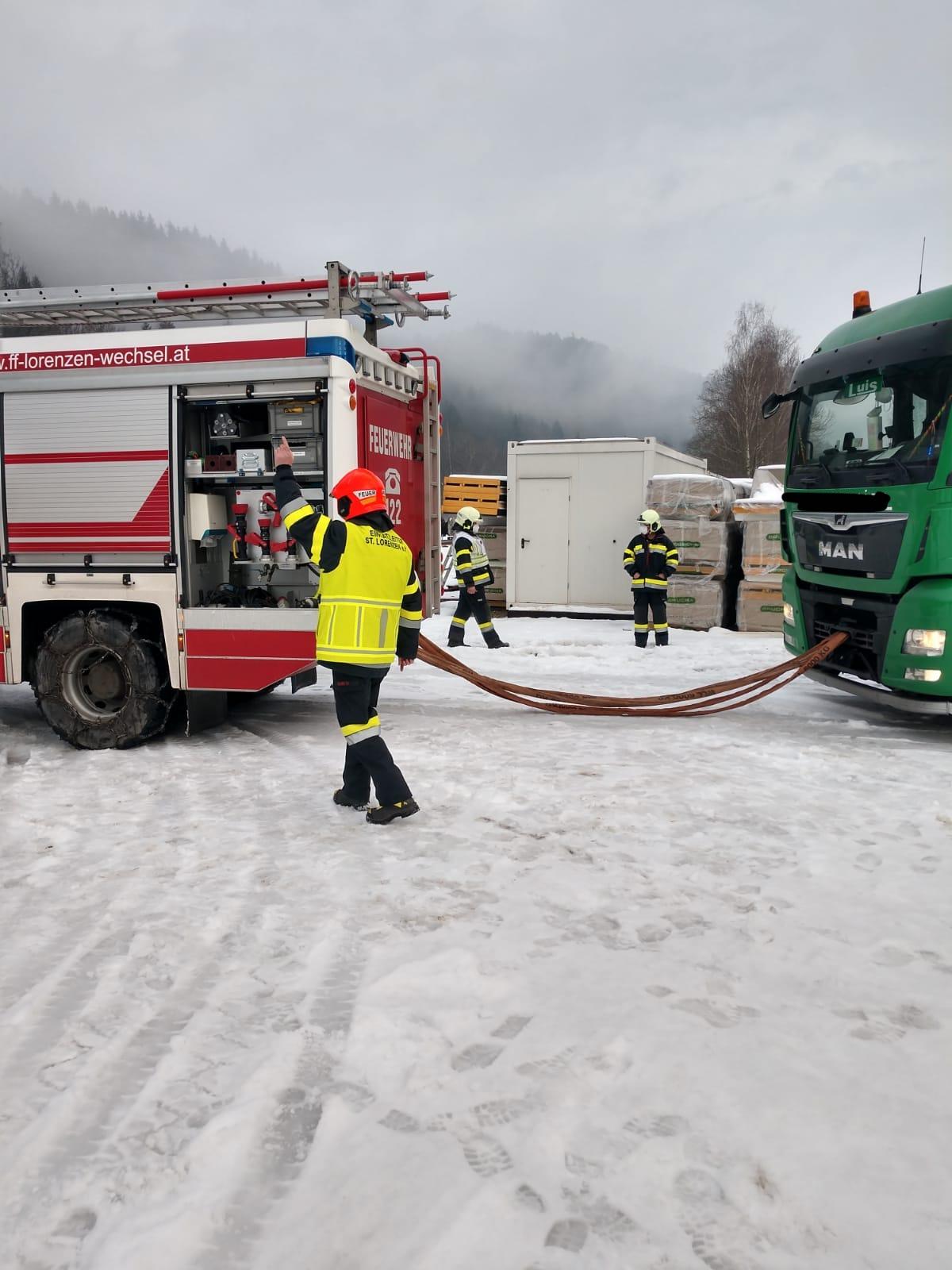 29.01.2021 – LKW – Bergung in Bruck/Lafnitz